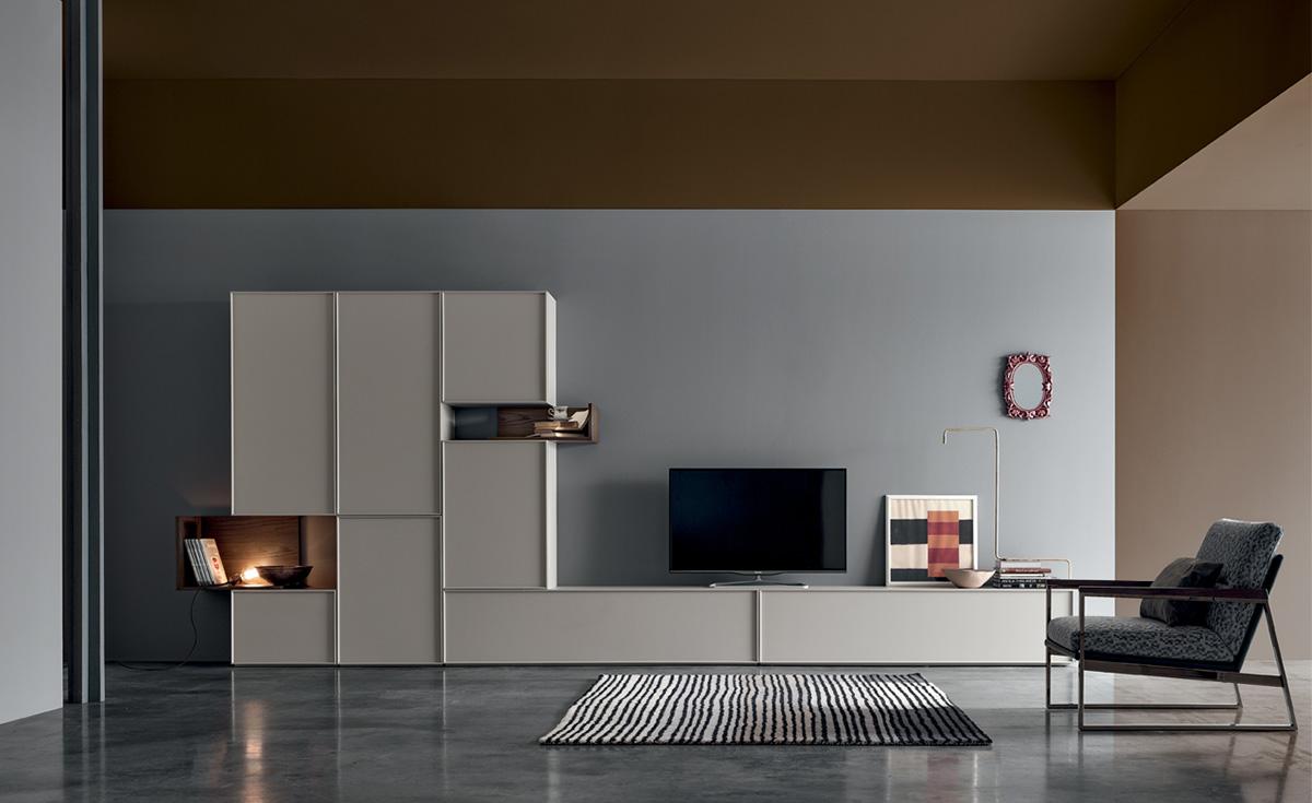 colori neutri per parete soggiorno classico