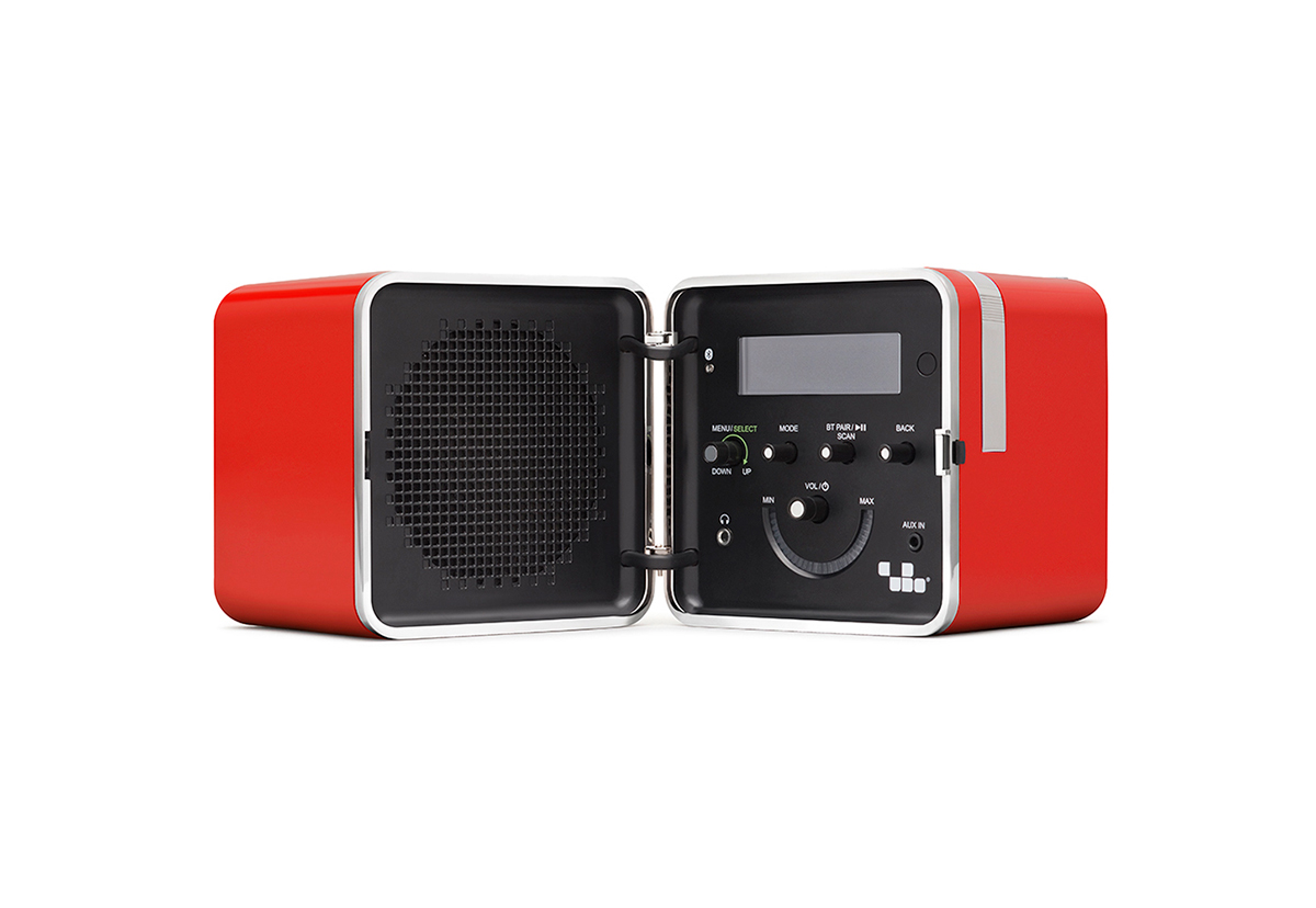 radio brionvega rossa