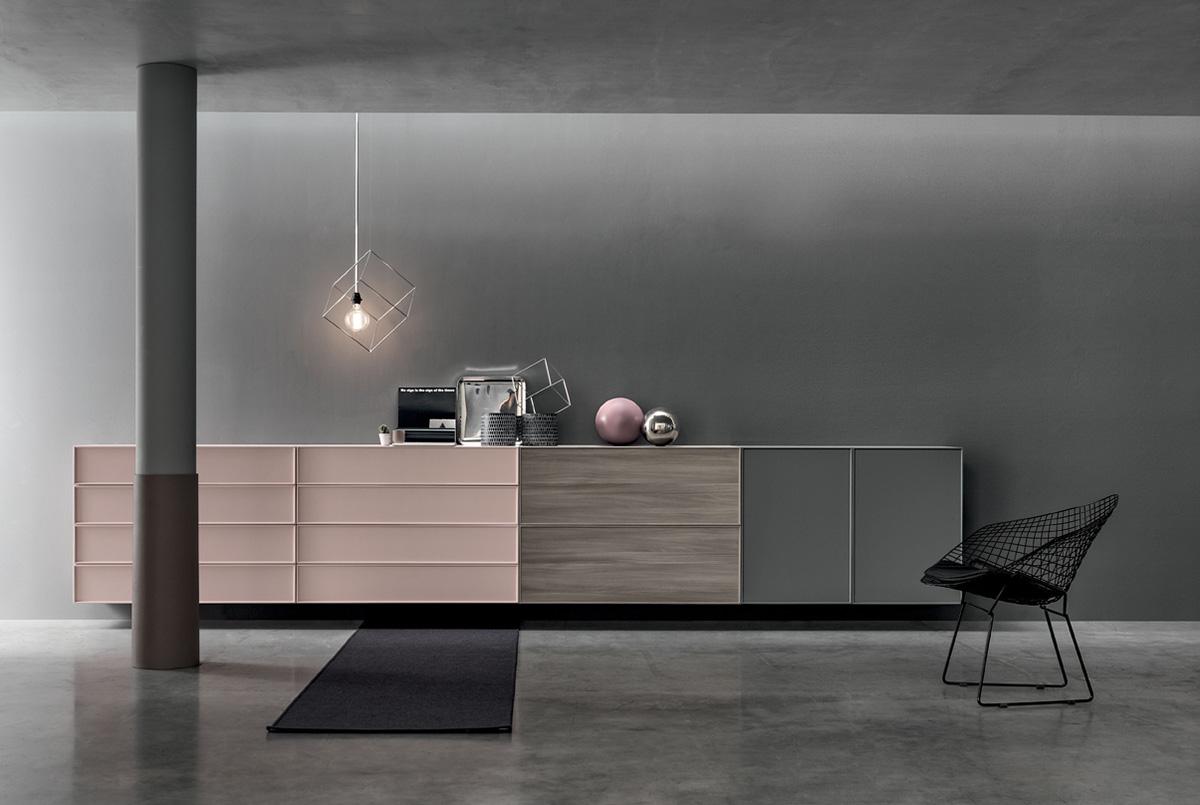 madia rosa design minimal collezione Dandy